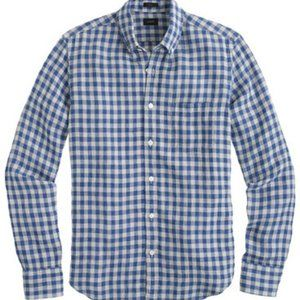 New: J. Crew linen shirt in Gingham